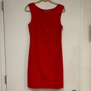 Cynthia Steffe red sleeveless work dress 6